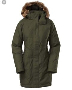 NEW North Face Arctic Parka Forest Night Green SMALL