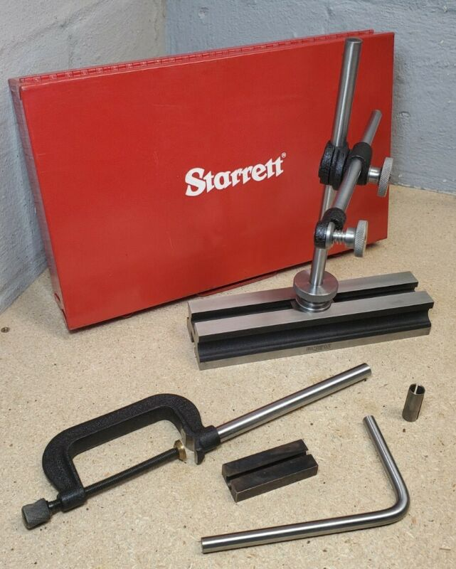 Starrett No. 665 inspection set with components in protective case