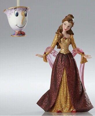 Disney Showcase Belle Couture de Force w/Chip Christmas Figurine - Beauty Beast