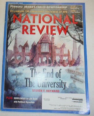 National Review Magazine The End Of The University February 2015 031915R2