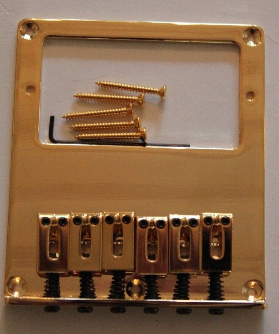 Schaller PU Pickup Rahmen Tonabnehmer 6,3 mm Messing chrom Gitarrenbau