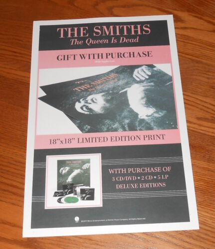 The Smiths The Queen is Dead Poster Promo of Deluxe Edition 2017 Release 11x17