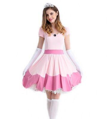 Prinzessin Peach Kleid Damen Kostüm Größe L 38 40 - Mario - Peach Mario Kostüm