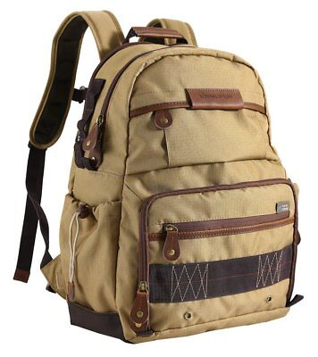 Vanguard Havana 41 DSLR Camera Laptop Backpack Case with Rain Cover - Khaki