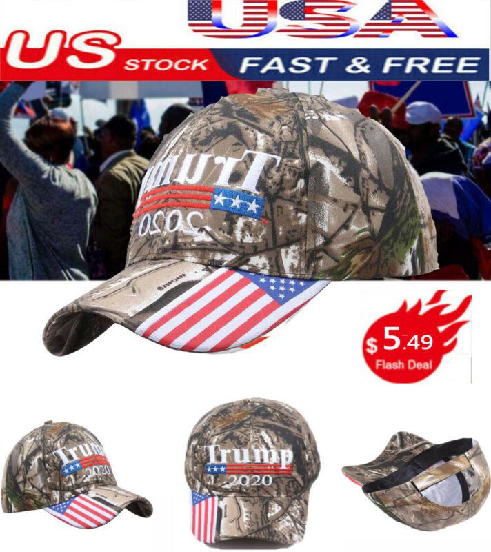 Donald Trump 2020 Cap USA Flag Camouflage Baseball Cap Sport Hat Free shipping