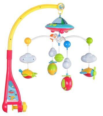 Baby Mobile Flugzeuge mit Fernbedienung Licht Projektor Spieluhr Karussell 4478 Flugzeuge Fernbedienung
