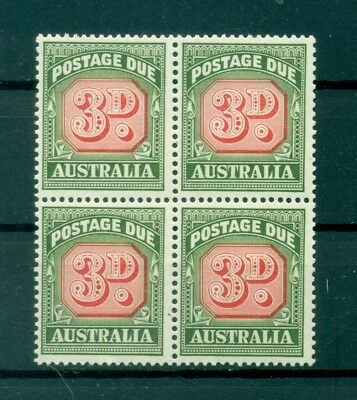 CIFRE - NUMBERS AUSTRALIA 1958/1960 Postage Due 3d S.G. D134 block of 4