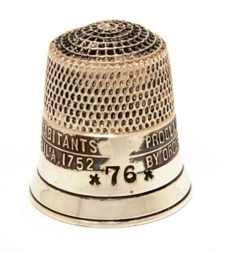 Simons Liberty Bell Sterling Thimble 1976 US Bicentennial