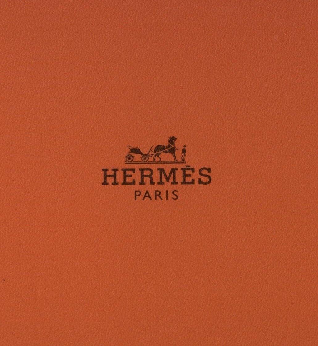 "Super Cool New Hermes Silk Tie Orange ""When Cat Is Away Mice Play"" Ex Rare Mint!"