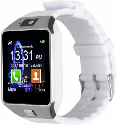 DZ09-Bluetooth-Smart-Watch-Phone-Mate-GSM-SIM-For-Android-iPhone-Samsung (WHITE)