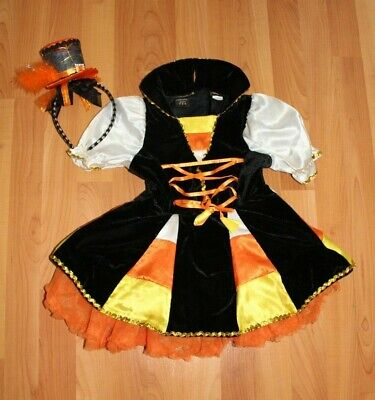 Candy Corn Tutu Costume (Authentic Kids Girls 4T Candy Corn Witch Tutu Dress Halloween Costume)