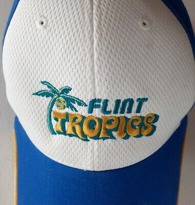 Flint Tropics Jackie Moon Semi Pro Movie Hat Cap Blue White Orange Adjustable