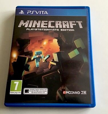 Minecraft game for the Sony Playstation PS Vita. FREE POSTAGE.