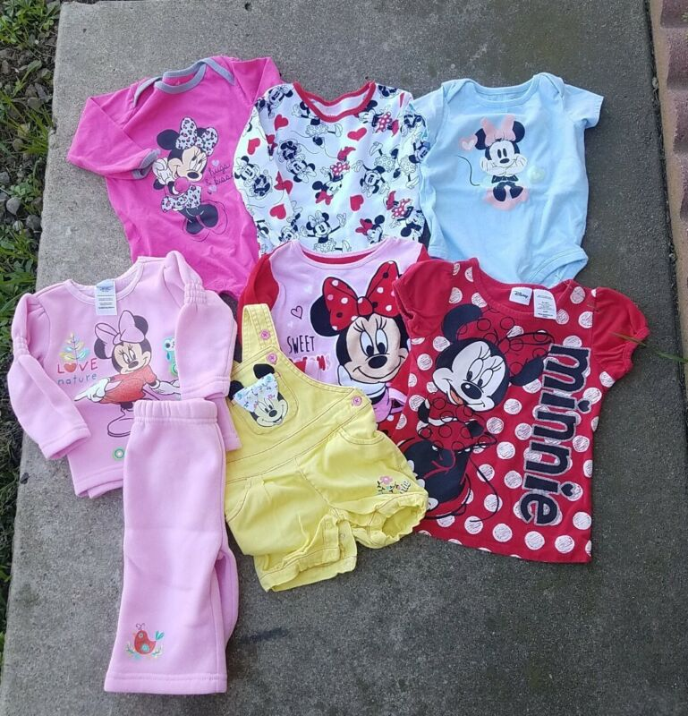 Lot Of 8 Pieces  Disney Baby Girl Clothes Used Sizes 4t ,3t,2t,12m,6/9m,3/6m,