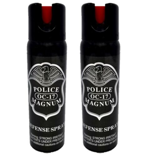 2 PACK Police Magnum 4oz pepper spray Safety Lock Defense Security Protection