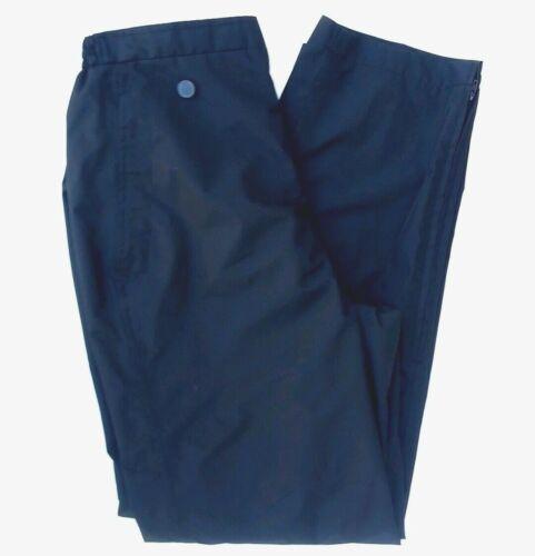 S Sun Mountian Seam Sealed Black Golf Rainwear Zipper Ankles Pants Women