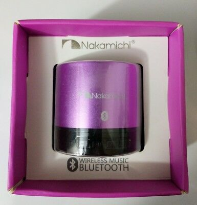 Nakamichi BT05S Series Bluetooth Round Speaker - Retail Packaging - Purple for sale  Shipping to Canada