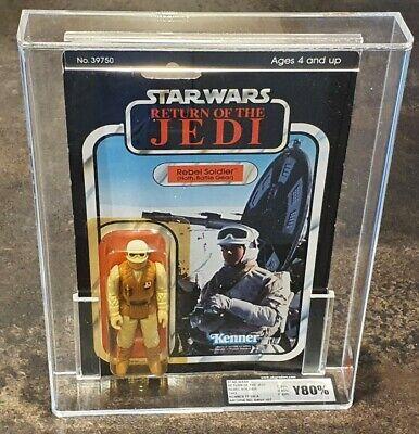 Vintage Star Wars Rebel Soldier MOC Graded by UKG 80% ROTJ Kenner 77-A BK 1983