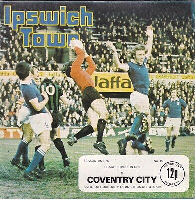 IPSWICH TOWN V COVENTRY CITY DIVISION ONE 17/1/76