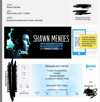 SHAWN MENDES TICKET X1