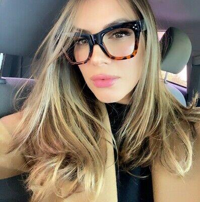 OVERSIZED XL SQUARE Vintage Retro NERD GEEK Women Eyeglasses (Square Geek Glasses)