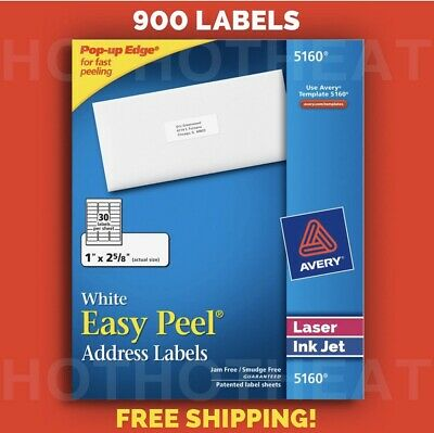 900 Avery 51606240816059605260 Address Mailing Shipping Labels 1 X 2 58