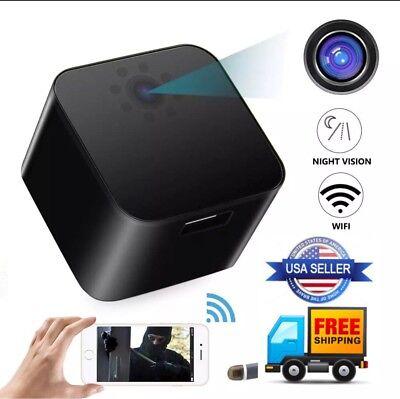 WiFi USB Wall Charger  camera full HD1080P Motion Night Vision Max 128 GB Lot