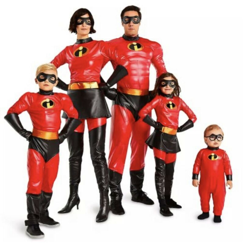 Disney Incredibles Costumes (Total 5) -ENTIRE FAMILY Set!