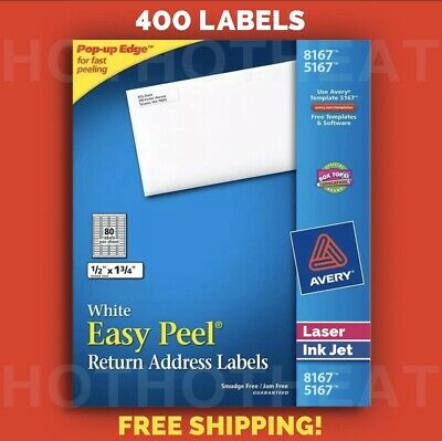 400 Avery 816751675267596718167 Return Address Shipping Labels 12 X 1 34