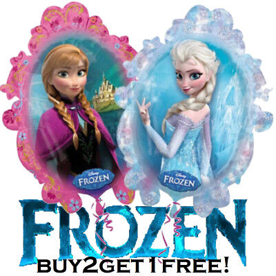 HUGE 2-Sided Frozen Elsa Anna Mylar Jumbo Balloon Birthday Party Supplies Disney