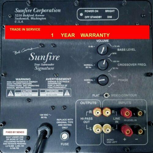 Sunfire True Subwoofer Signature Amp Module, Repair service