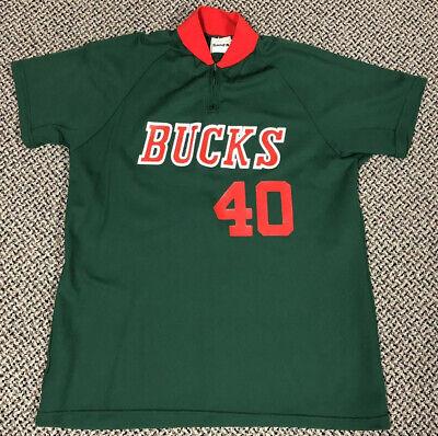 Vintage 70s Milwaukee Bucks Warm Up Jacket Zip Shirt Medalist Sand Knit Made USA Medalist Warm Up Jacket