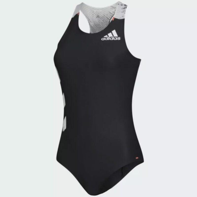 ADIDAS Adizero Running Leotard Gymnastics Charcoal White Womens Medium NWT