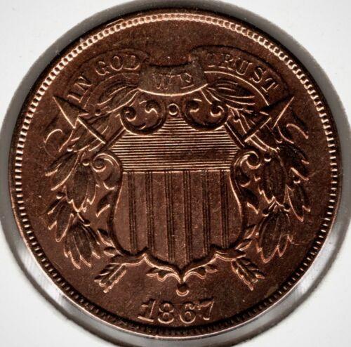 1867 Two (2) Cent - Choice AU