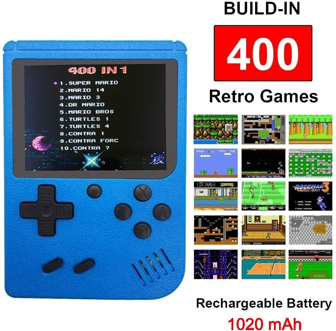 Handheld Game Console!!! Built-in 400 in 1 Game pad USA Best Seller Blue color