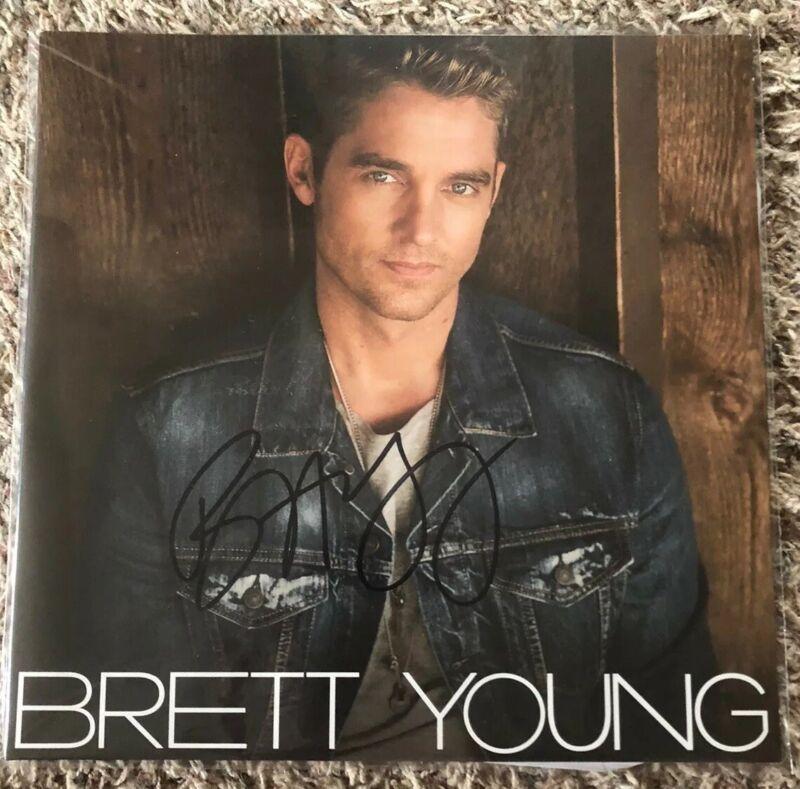 BRETT YOUNG Autographed Self-Titled Vinyl LP
