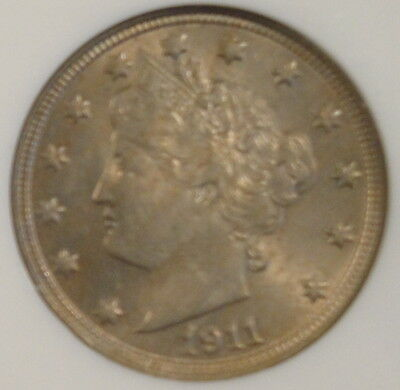 1911 V NICKEL NGC MS64