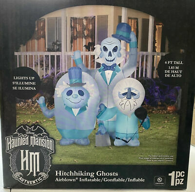 Gemmy Haunted Mansion Airblown Inflatable Hitchhiking Ghosts 6 FT - IN HAND