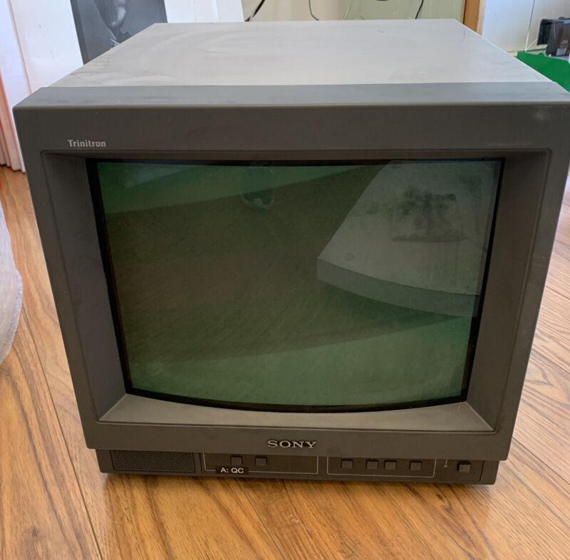 "Sony PVM-14N5U Trinitron 14"" CRT Color Video Monitor - Retro Gaming Monitor"