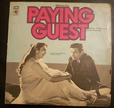 Paying guest 1957 Dev Anand, Nutan Bollywood Rare LP Vinyl Record 45NLP1026