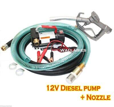 New 12v Diesel Kerosene Fuel Transfer Pump 11 Gmp W Nozzle 12 Hose