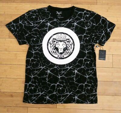 Versace 19.69 19v69 ITALIA Men's Short Sleeve V-Nech T-Shirt Lion MEDIUM
