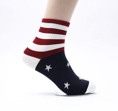 10 Pairs USA Flag Mens Casual Socks Sports Cotton Sneakers Shoes Korea