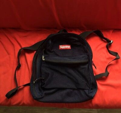 Supreme SS16 Mesh Rucksack Backpack Bag Navy for sale  Shipping to South Africa
