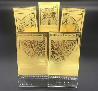 Pure Metal Material Custom Yugioh Exodia The Forbidden One Golden Metal Card Set