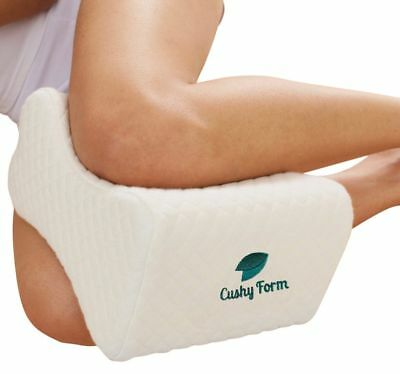 Cushy Form Memory Foam Pillow Wedge Knee Hip Leg Back Pregnancy Join Pain Relief