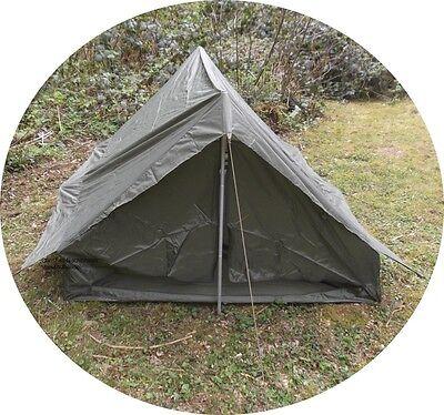 Zweimannzelt Französisches Armeezelt mit Boden, oliv, neuwertig Camping Zelt
