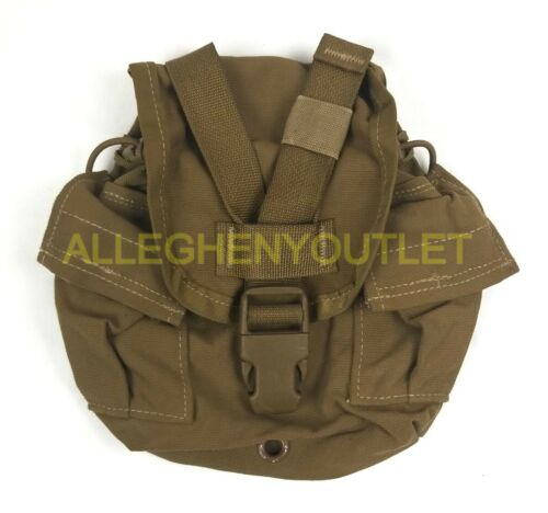 US Military USMC 1 QT MOLLE Coyote Brown CANTEEN COVER Carrier Utility Pouch VGC