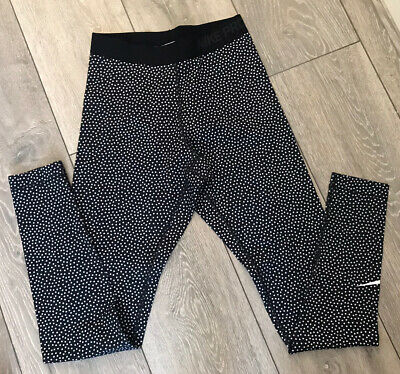 Nike Pro Polkadot / Snow Print Dri-Fit Leggings Size Small