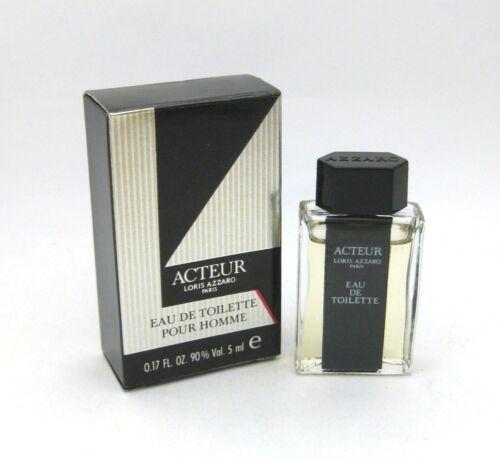 Acteur+Loris+Azzaro+Paris+Vintage+Eau+De+Toilette+5ml+Miniature+Pour+Homme
